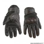 Gants moto trendy ete gt525 - acre cuir noir / marron taille XXL