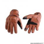 Gants moto trendy ete gt525 - acre cuir marron clair taille S