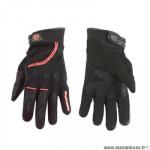 Gants moto trendy ete gt225 - callao noir / rouge taille XS