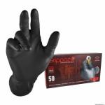 Boite de 25 gants atelier nitrile ecailles de poisson resistant noir t7 s
