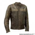 Blouson moto archive classic homme en cuir de buffle taille l
