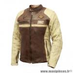 Blouson moto archive racer homme en cuir de vachette taille l