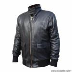 Blouson moto archive couleur noir homme maverick en cuir de mouton taille l