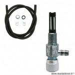 Kit robinet essence universel m10 avec durite noir diamètre 5-8mm 1m + 2 colliers