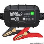 Chargeur de batterie noco genius2 6v-12v de 2a à 40ah 30w (pour batteries conventionnelles, sans entretien, agm, lithium)