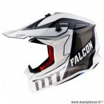 Casque cross adulte marque MT Falcon Warrior couleur blanc brillant taille XL (boucle double D)
