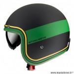 Casque jet marque MT Le Mans 2 SV Tant couleur noir/jaune/vert mat taille XXL