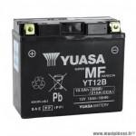 Batterie 12v 10ah yt12b marque Yuasa (lg150XL69xh130mm)