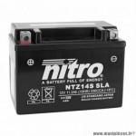 Batterie 12v 11,2ah ntz14s marque Nitro sla sans entretien prête à l'emploi