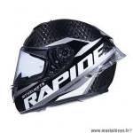 Casque intégral marque MT Rapide Pro Carbon C2 Compétition couleur gris/noir brillant taille XS