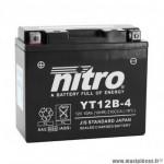 Batterie 12v 10ah nt12b-4 marque Nitro sla sans entretien prête à l'emploi