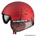 Casque jet marque MT Le Mans 2 SV Cafe Racer couleur rouge mat taille XXL
