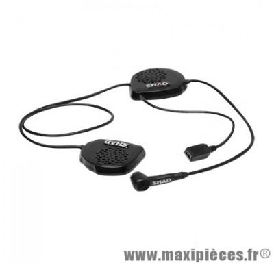 Kit mains-libres Shad Bluetooth BC 22 Adaptable Casque Intégral marque - 2 écouteurs
