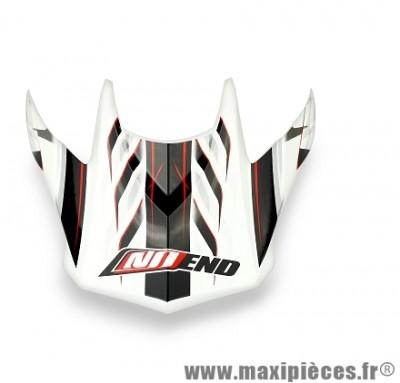 Visière Casque Moto Cross marque NoEnd Defcon 5 White/Red