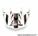 Visière Casque Moto Cross marque NoEnd Defcon 5 White/Red