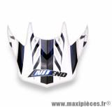 Visière Casque Moto Cross marque NoEnd Defcon 5 White/Blue