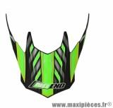 Visière Casque Moto Cross marque NoEnd Defcon 5 Black/Green Mat