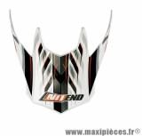 Visière Casque Moto Cross marque NoEnd Defcon 5 White/Orange