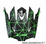 Visière Casque Moto Cross marque NoEnd Origami Black/Green SC15