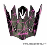 Visière Casque Moto Cross marque NoEnd Origami Glossy Pink SC15