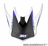Visière Casque Moto Cross marque NoEnd Defcon By OCD White/Blue TX696