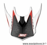 Visière Casque Moto Cross marque NoEnd Defcon By OCD White/Red TX696