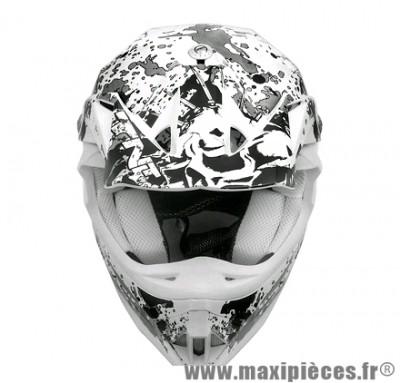 Casque Moto Cross marque TNT Helmets Dead Head SC05 taille L (59-60cm)