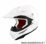 Casque Moto Cross marque TNT SC05 Blanc Brillant Uni taille XS (53-54cm)