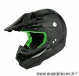 Casque Moto Cross marque TNT SC05 Noir Brillant Uni taille L (59-60cm)