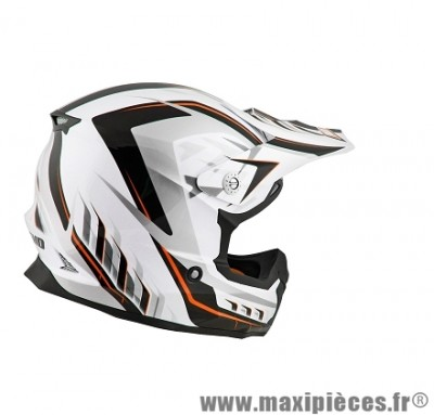 Casque Moto Cross taille S marque NoEnd Defcon 5 White/Orange TX696 (55-56cm)