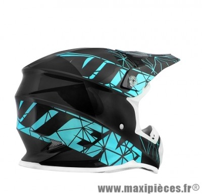 Casque Moto Cross marque NoEnd Origami Light Blue SC15 taille XXL (63-64cm)