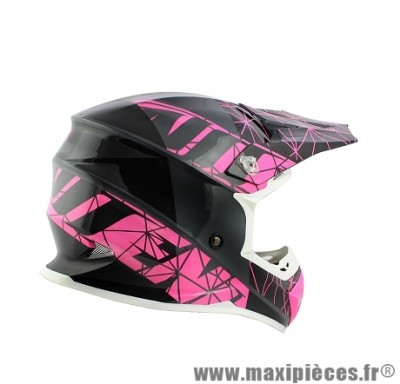 Casque Moto Cross marque NoEnd Origami Glossy Pink SC15 taille M (57-58cm)