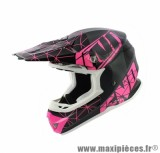 Casque Moto Cross marque NoEnd Origami Glossy Pink SC15 taille L (59-60cm)