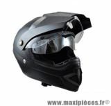 Casque Moto Cross Écran marque Trendy 17 T-801 Escape Noir Mat taille XS (53-54cm)