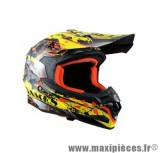 Casque Moto Cross marque Trendy 17 T-901 X-Games Noir/Jaune/Rouge Verni taille XXL (63-64cm)