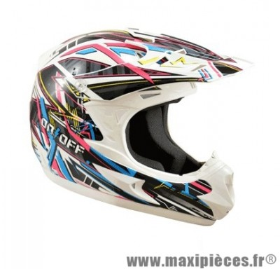 Casque Moto Cross marque ON/OFF 17 Switch Verni T63 taille XXL (63-64cm)