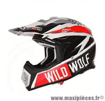 Casque Moto Cross taille XL marque Shiro MX-912 Wild Wolf Carbone Replica (61-62cm) (1000 G +-- 50 G)