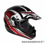 Casque Moto Cross taille XL marque ADX MX2 Thunderbolt Noir/Rouge (61-62cm)