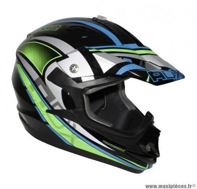 Casque Moto Cross marque ADX MX2 Thunderbolt Noir/Vert Fluo taille XS (53-54cm)