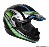 Casque Moto Cross marque ADX MX2 Thunderbolt Noir/Vert Fluo taille L (59-60cm)