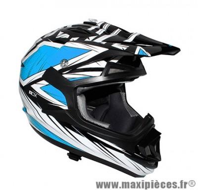 Casque Moto Cross taille XL marque ADX MX2 Blaze Bleu (61-62cm)