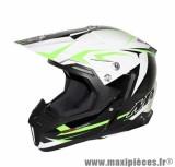 Casque Moto Cross marque MT Synchrony Steel Noir/Blanc/Vert taille L (59-60cm)