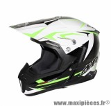 Casque Moto Cross marque MT Synchrony Steel Noir/Blanc/Vert taille XXL (63-64cm)