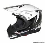 Casque Moto Cross marque MT Synchrony Steel Noir/Blanc/Gris taille L (59-60cm)