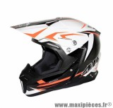 Casque Moto Cross marque MT Synchrony Steel Noir/Blanc/Orange taille XXL (63-64cm)