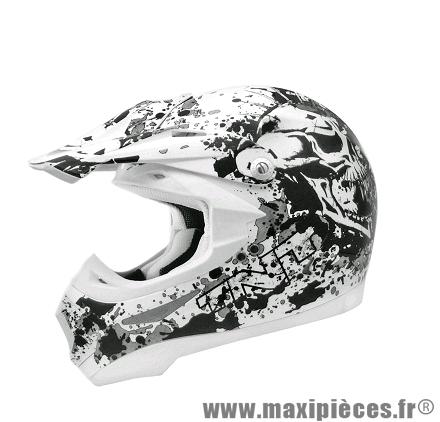 Casque Moto Cross marque TNT Helmets Dead Head SC05 taille XS (53-54cm)