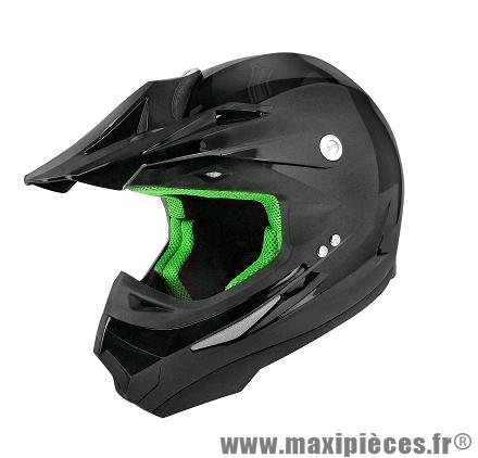 Casque Moto Cross marque TNT SC05 Noir Brillant Uni taille XS (53-54cm)