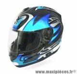 Casque Intégral marque TNT Sirius07 Fibre Noir/Bleu taille XS (53-54cm)