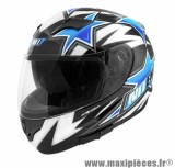 Casque Intégral taille XL marque NoEnd Star By OCD Blue SA36 double visière (61-62cm)