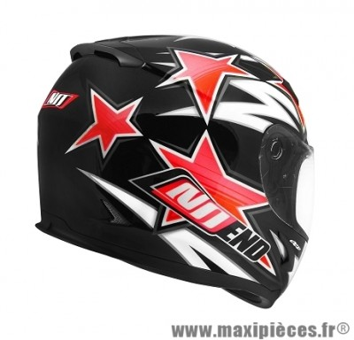 Casque Intégral taille S marque NoEnd Star By OCD Red SA36 double visière (55-56cm)